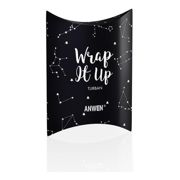 Anwen Wrap It Up turban do włosów Czarny