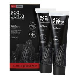 Black whitening toothpaste czarna pasta do zębów wybielająca z węglem 2x