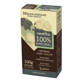 Herbal hair color ziołowa farba do włosów 3.0 czarna czekolada