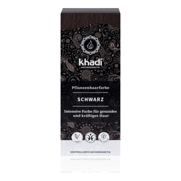 Khadi Naturalna Ziołowa Henna do Włosów Black Czarna 100g