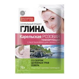 Glinka Karelska Różowa - Tonizująca Efekt Wygładzający z Dodatkiem Ziół