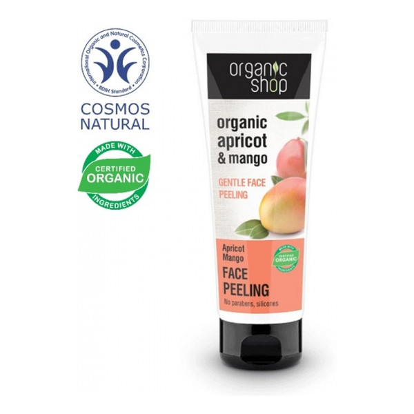 Organic Shop Morela i Mango Delikatny Peeling Do Twarzy 75ml