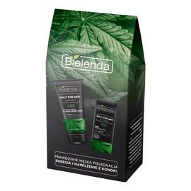 Zestaw prezentowy Only for Men Cannabis krem do twarzy nawilżający 50 ml + pasta do twarzy 3w1