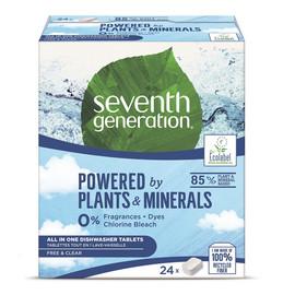 Dishwasher Tablets tabletki do zmywarki Free & Clear 24szt.