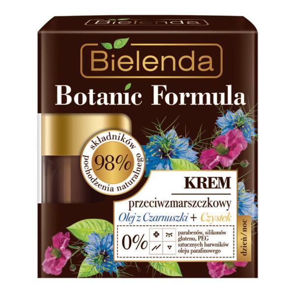 Bielenda Botanic Formula Krem Do Twarzy Przeciwzmarszczkowy na dzień i na noc z Olejem Z Czarnuszki i Czystkiem 50ml