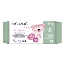 Atopical Biodegradowalne chusteczki nawilżane dla niemowląt i dzieci do skóry atopowej 50 szt.