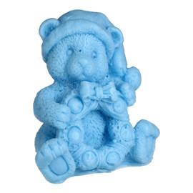 Mydełko glicerynowe Miś z Wiankiem niebieski