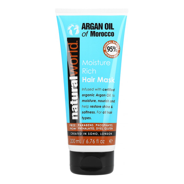 Natural World ARGAN OIL OF MOROCCO Bogata maska nawilżająca 200ml