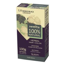 Herbal hair color ziołowa farba do włosów 1.11 czerń indygo