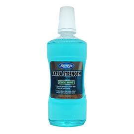 Extra Strength Mouthwash extra mocny płyn do płukania jamy ustnej z fluorem Cool Mint