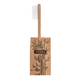 Bambusowa Szczoteczka do zębów Biała włosie miękkie
