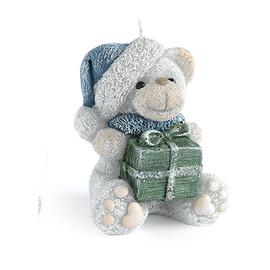 Świeca TEDDY Świąteczny figurka Szara