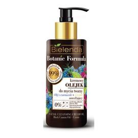 Kremowy olejek do mycia twarzy nawilżający Olej z Czarnuszki i Czystek