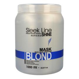 Maska z jedwabiem do włosów blond zapewniająca platynowy odcień