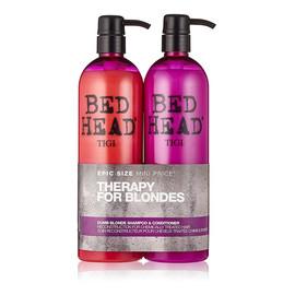Zestaw bed head dumb blonde shampoo szampon do włosów blond 750ml + dumb blonde conditioner odżywka do włosów blond 750ml