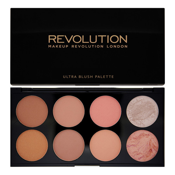 Makeup Revolution Ultra Blush and Contour Palette Hot Spiece Paleta Róży Do Policzków 12g