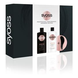 Zestaw szampon do włosów słabych i łamliwych 440ml + odżywka do włosów słabych i łamliwych 440ml + kompaktowa szczotka do włosów