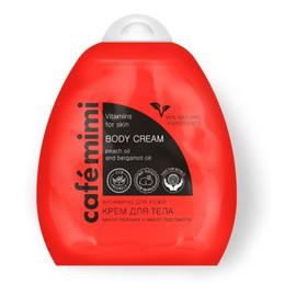Krem do ciała - witaminy dla skóry - olej z pestek brzoskwini, olej ze słodkich migdałów, masło Shea, olej z pomarańczy bergamotki, witaminy B5, B6, B3, C, E - 95% składników naturalnych