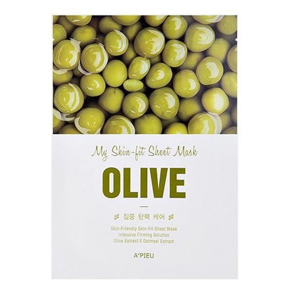 A'pieu My Skin-Fit ujędrniająco-rozświetlająca maseczka w płachcie Olive 25g