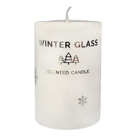 Świeca zapachowa Winter Glass biała - walec mały