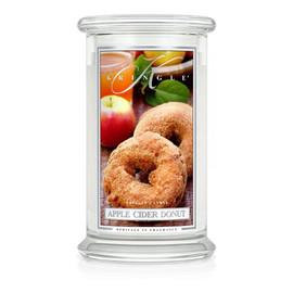 Duża świeca zapachowa z dwoma knotami apple cider donut