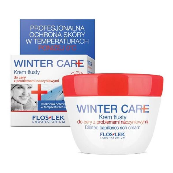 Flos Lek Winter Care Krem Do Cery Tłustej z Problemami Naczynkowymi 50ml