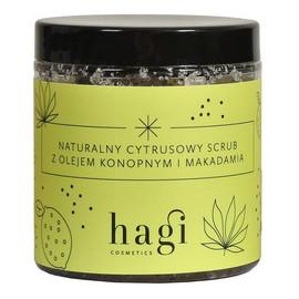 Naturalny cytrusowy scrub do ciała z olejem konopnym i makadamia