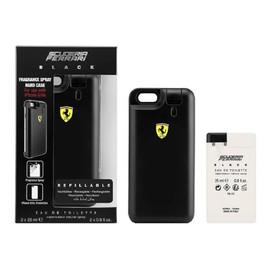 ZESTAW FERRARI Black perfumy męskie - woda perfumowana 2x25ml wkład + etui na telefon iPhone 6 & iPhone 6s