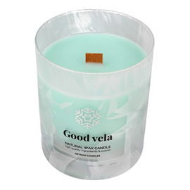 Świeca zapachowa Organic Winter Good Vela z drewnianym knotem