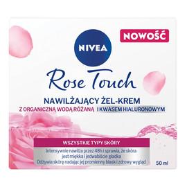 Rose Touch nawilżający żel-krem z organiczną wodą różaną i kwasem hialuronowym