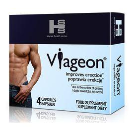 Viageon poprawia erekcję suplement diety 4 kapsułki