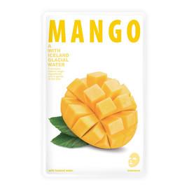 Mask A With Iceland Glacial Water odświeżająca maseczka w płacie Mango