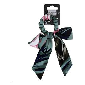 Green collection gumka do włosów z kwiatową kokardą