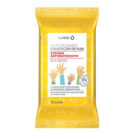 Chusteczki oczyszczające do rąk z płynem antybakteryjnym dla dzieci