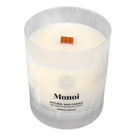 Artman Candles Świeca zapachowa Organic Monoi z drewnianym knotem