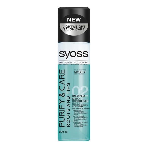Syoss Purify & Care odżywka do włosów przetłuszczających się i suchych na końcach spray 200ml