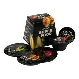 zestaw podarunkowy SUPER FOOD, Peeling 50ml, żel pod prysznic 50ml i 3 Maseczki Do Twarzy 3x10ml