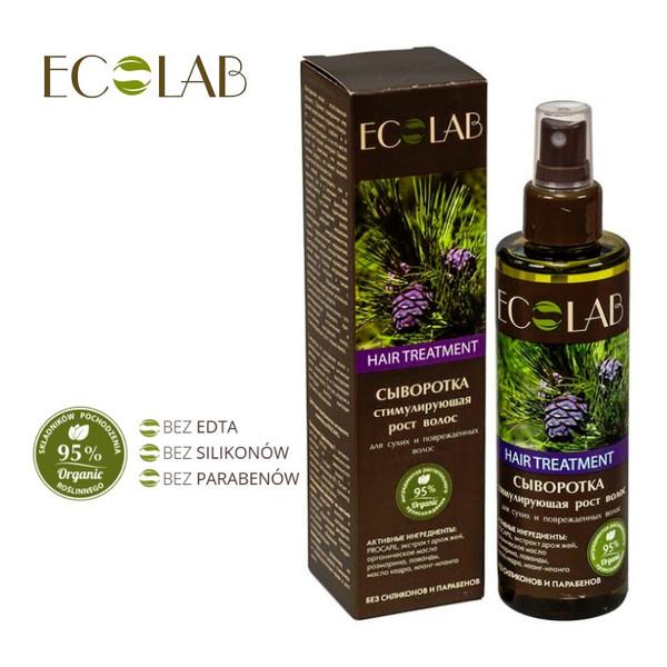 Ecolab Ec Laboratorie Serum do Włosów Suchych i Uszkodzonych Stymulujące Wzrost 200ml