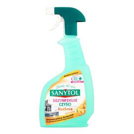 Płyn czyszczący i dezynfekujący do kuchni w sprayu cytrusy