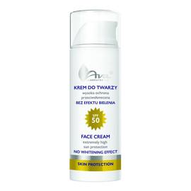 Krem do twarzy wysoka ochrona przeciwsłoneczna SPF 50 - Bez efektu bielenia