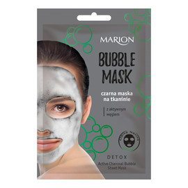 Bubble Mask Czarna Bąbelkująca Maska Na Tkaninie Z Aktywnym Węglem
