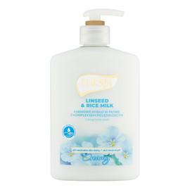 Kremowe mydło w płynie Linseed & Rice Milk