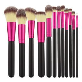 Zestaw Pędzli Do Makijażu Black&Pink 12 Pędzli