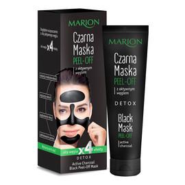 Czarna maska do twarzy z aktywnym weglem