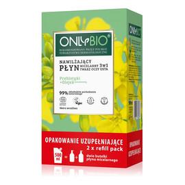 Nawilżający płyn micelarny 3w1 prebiotyki i olejek sezamowy + Refill