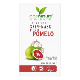 Naturalna upiększająca maska do twarzy z różowym pomelo
