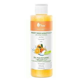 Żel pod prysznic + balsam 2w1 z naturalnym olejkiem pomarańczowym