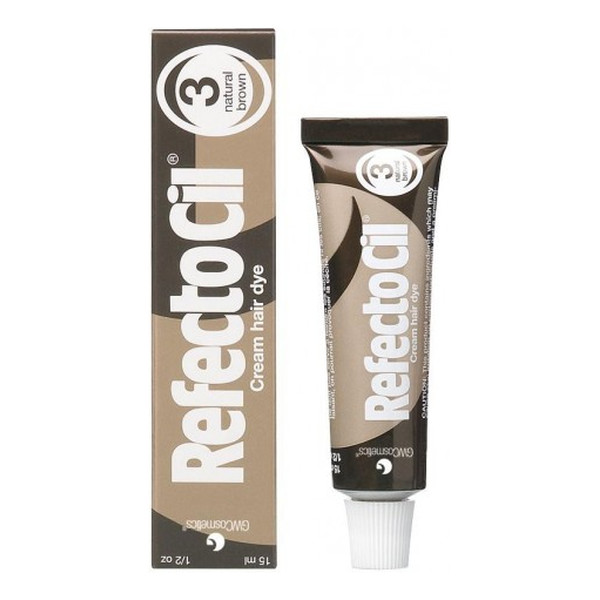 Refectocil Refecto Cil żelowa Henna Do Brwi I Rzęs 3 Natural Brown