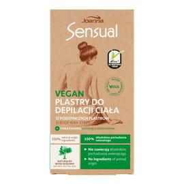 Vegan Plastry do depilacji ciała 12 sztuk + Tubka z oliwką łagodzącą