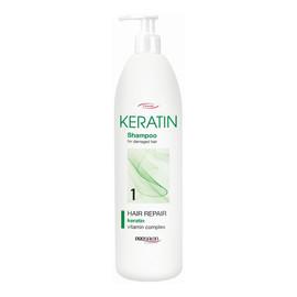1 szampon z keratyną do codziennej pielęgnacji włosów zniszczonych suchych i matowych